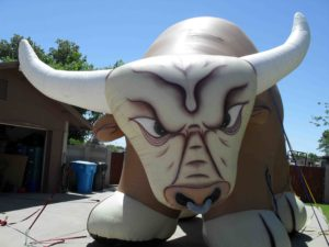 bull shape advertising inflatables for rent in St. Charles
